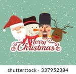 merry christmas colorful card... | Shutterstock .eps vector #337952384