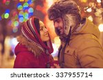 young happy couple in love... | Shutterstock . vector #337955714