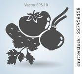 flat vegetables icon | Shutterstock .eps vector #337956158