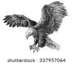 bald eagle swoop draw...   Shutterstock . vector #337957064