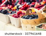 Berry Fruits In Baskets At A...