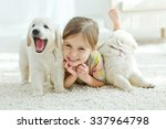 the child with a dog | Shutterstock . vector #337964798