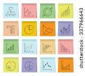 data analytics icons  graph and ... | Shutterstock .eps vector #337966643