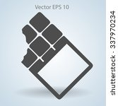 flat chocolate wrapper icon.... | Shutterstock .eps vector #337970234