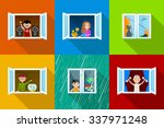 different people in city... | Shutterstock . vector #337971248