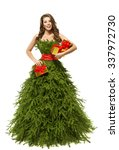 Woman Christmas Tree Dress ...