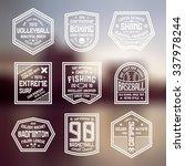 set of sports badges.... | Shutterstock .eps vector #337978244