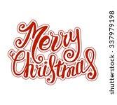 vector merry christmas card... | Shutterstock .eps vector #337979198
