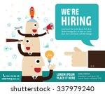 hiring. recruitment.  hand... | Shutterstock .eps vector #337979240