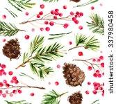 pattern christmas ornaments... | Shutterstock . vector #337980458