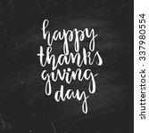 happy thanksgiving lettering on ... | Shutterstock .eps vector #337980554