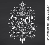 i wish you a merry christmas... | Shutterstock .eps vector #337983164