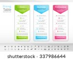 light pricing list with 3... | Shutterstock .eps vector #337986644