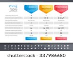 light pricing table with 3... | Shutterstock .eps vector #337986680