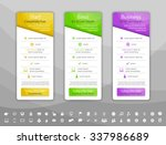 light pricing list with 3... | Shutterstock .eps vector #337986689