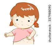 girl with health problem... | Shutterstock .eps vector #337988090