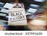 shopper holding black friday
