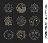 vector set of design elements ... | Shutterstock .eps vector #337994006