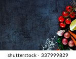 close up of colorful spices and ... | Shutterstock . vector #337999829