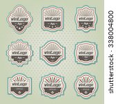 vintage labels | Shutterstock .eps vector #338004800