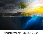 life and death on a floating... | Shutterstock . vector #338012054