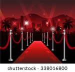 red carpet movie premiere... | Shutterstock .eps vector #338016800