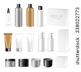 make up. tube of cream or gel... | Shutterstock .eps vector #338022773