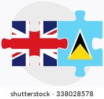 united kingdom and saint lucia... | Shutterstock .eps vector #338028578