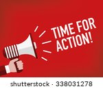 time for action | Shutterstock .eps vector #338031278