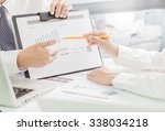 business people discussing the... | Shutterstock . vector #338034218