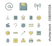 thin line icons for user...
