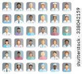 medical staff   set of icons... | Shutterstock .eps vector #338042159
