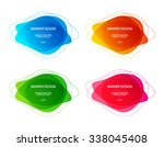 set of vector colorful round... | Shutterstock .eps vector #338045408