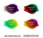 set of vector colorful round... | Shutterstock .eps vector #338045420