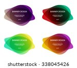 set of vector colorful round... | Shutterstock .eps vector #338045426