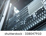 server technology in datacenter ... | Shutterstock . vector #338047910