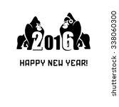 merry christmas from gorilla   Shutterstock .eps vector #338060300