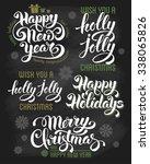 hand drawn calligraphic... | Shutterstock .eps vector #338065826