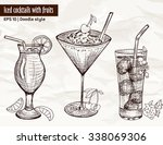 hand drawn set of alcoholic... | Shutterstock .eps vector #338069306