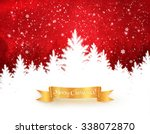 red and white christmas trees... | Shutterstock .eps vector #338072870