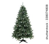 Christmas Tree Isolated On A...