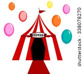 circus tent white and red with... | Shutterstock .eps vector #338078270
