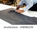 tailor working in his shop... | Shutterstock . vector #338086250