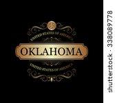 oklahoma usa state.vintage... | Shutterstock .eps vector #338089778