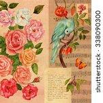 Vintage Collage Postcard Or...