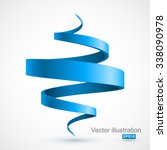 blue spiral arrow 3d. | Shutterstock .eps vector #338090978