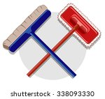 illustration of cleaning... | Shutterstock .eps vector #338093330