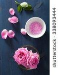 rose flower herbal salt for spa ...   Shutterstock . vector #338093444