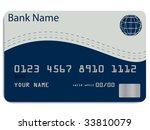 illustration of a credit card | Shutterstock . vector #33810079