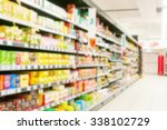 blur supermarket. product shelf | Shutterstock . vector #338102729